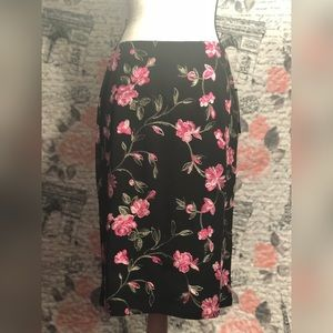 Black Floral skirt.